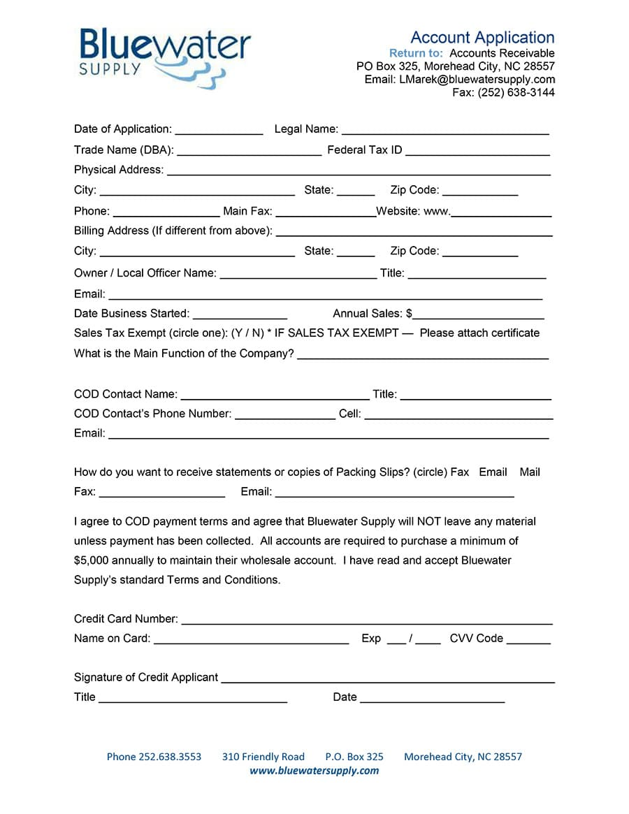 BWS COD Application